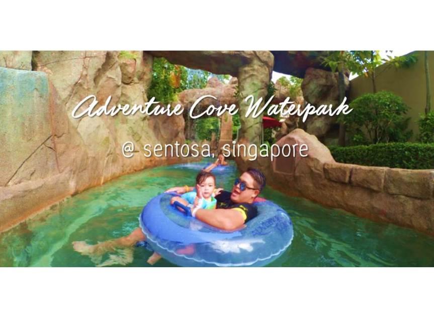 พาเด็กเล่นน้ำที่ Adventure Cove Resort World SentosaSingapore