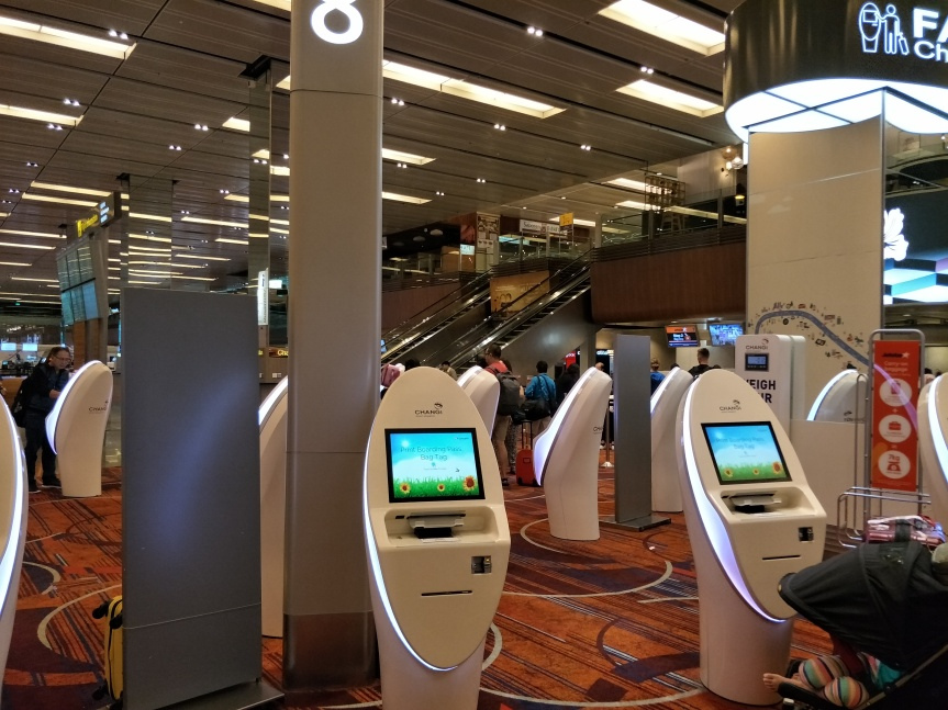 เช็คอินด้วยตัวเองกับ Jetstar Self Check-in Kiosk at Changi AirportSingapore